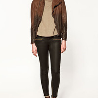 LEATHER JACKET - Collection - Blazers - Collection - Woman - ZARA United States