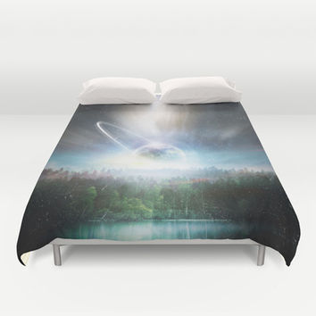 Death cup Duvet Cover by HappyMelvin