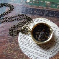 compass necklace //  not lost just on an adventure //  nautical necklace // steampunk jewelry