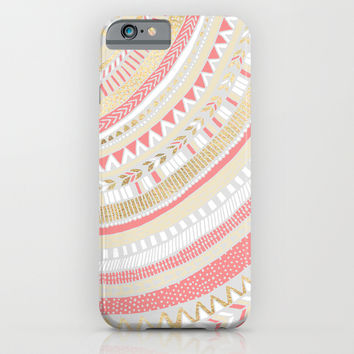 Coral + Gold Tribal iPhone & iPod Case by Tangerine-Tane