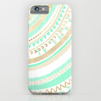 Mint + Gold Tribal iPhone & iPod Case by Tangerine-Tane