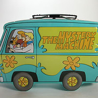 VINTAGE- SCOOBY- DOO AND THE GANG MYSTERY MACHINE TIN LUNCH BOX