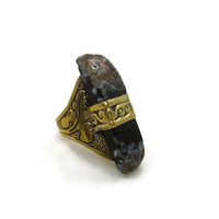 Cosmic Jasper Brass Ring