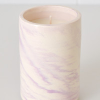 Swirl Ceramic Soy Candle - Violet
