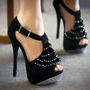 Liliana Jeweled Ruffle Open Toe Stiletto Heel - Shoes 4 U Las Vegas