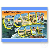 Greetings from Ocean City, New Jersey Post Card from Zazzle.com