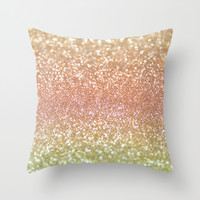 Champagne Shimmer Throw Pillow by Lisa Argyropoulos