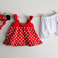 Minnie Dress Hair Accessories Waist Band Bodysuit Romper Onesuit Jumpsuit