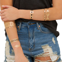 Metallic Multi Temporary Jewelry Tattoo Pack 2