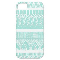 Boho Mint Aztec iPhone 5 Cover from Zazzle.com