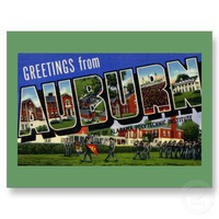 Greetings from Auburn, Alabama Postcard from Zazzle.com