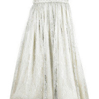 Marchesa|Strapless embroidered dress |NET-A-PORTER.COM