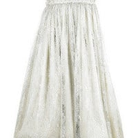 Marchesa | Strapless embroidered dress  | NET-A-PORTER.COM