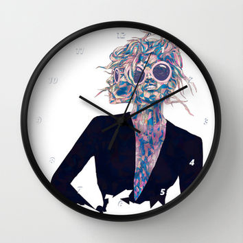Pastel Light Four Eyes Wall Clock by Ben Geiger