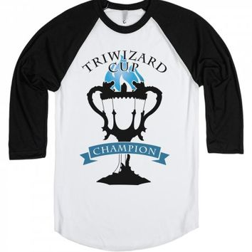 Triwizard Cup Champion-Unisex White/Black T-Shirt