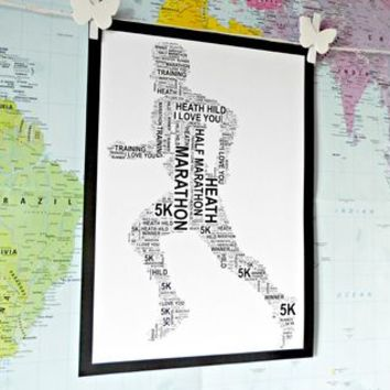 Runner, Personalised Sportsman/Woman Word Art