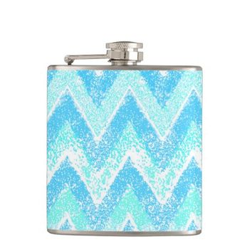blue chevron flask