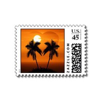 Tropical Wedding Postage Stamp from Zazzle.com