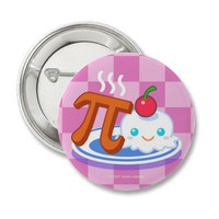 Pi Ala Mode Pins from Zazzle.com