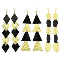 """Mandy Fresh"" Long Statement Earrings"