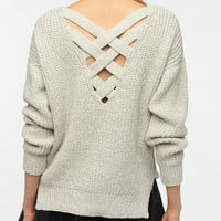 Sparkle &amp; Fade Crisscross Back Sweater