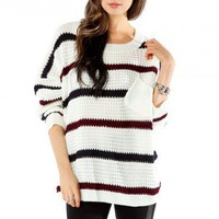 Cambridge Stripe Sweater  - ShopSosie.com