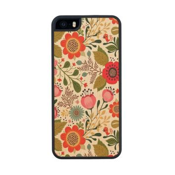 Girly Vintage Spring Floral Pattern iPhone 5 Case