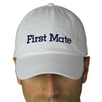 First Mate Hat Embroidered Hats from Zazzle.com