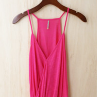 Faux Tuck Camisole, Fuchsia (Great Investment Piece)