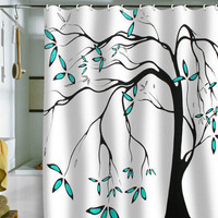 DENY Designs Home Accessories | Madart Inc. Garden Delight Aqua Breeze Shower Curtain