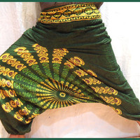 Harem Pants -Loose Genie Gypsy boho Alibaba Baggy festival Burning man Fisher man yoga Harem Pant Trouser Jumpsuit