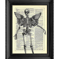 Death From Above Halloween Art Vintage Dictionary by StayGoldMedia