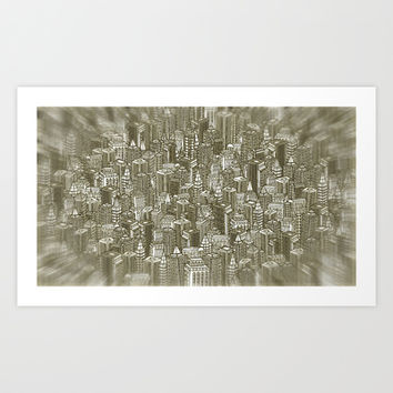 City Visions Art Print by Texnotropio