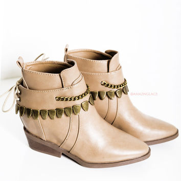 Harlem Harley Taupe Festival Boots
