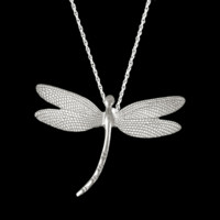 Fine Pewter Dragonfly Small Petite Pendant by Lovell Designs