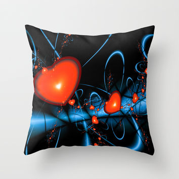 Heart of Darkness Throw Pillow by Alice Gosling