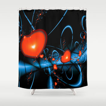Heart of Darkness Shower Curtain by Alice Gosling