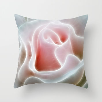 Pink Rose Throw Pillow by Alice Gosling