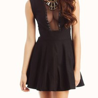 mesh-inset-mini-dress BLACK - GoJane.com