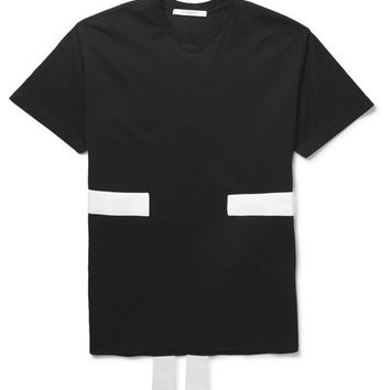 Givenchy - Band-Trimmed Cotton-Jersey T-Shirt | MR PORTER