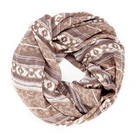 Sole Society Knit Print Infinity Scarf