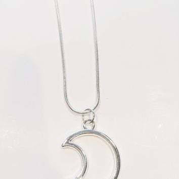 Gwen Moon Charm Necklace