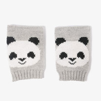Panda Fingerless Gloves
