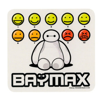 Disney Big Hero 6 Baymax Pain Scale Sticker