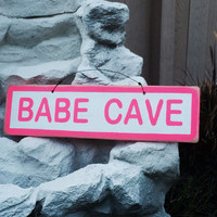 NEW Fun inspirational Signs Wood Art Decor Girls Teens Trendy Fashion Wall art Hanging BABE CAVE