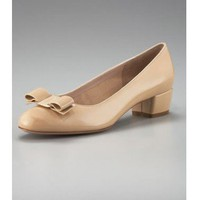 Salvatore Ferragamo Vara-Bow Low-Heel Pump