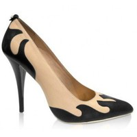 McQ Alexander McQueen McQ - Black Flame Leather Pump