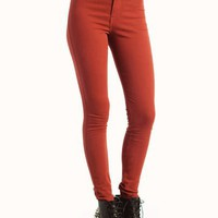 high-waisted-jeans BRICK BURGUNDY CORAL DKMUSTARD DKTEAL JADE MUSTARD RED ROYAL RUST - GoJane.com