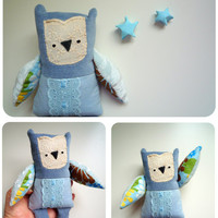 Polly  - Little  owl, soft art  toy  by Wassupbrothers