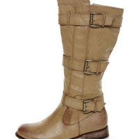 Cowgirl 2 Beige Belted Riding Boots - $47.00